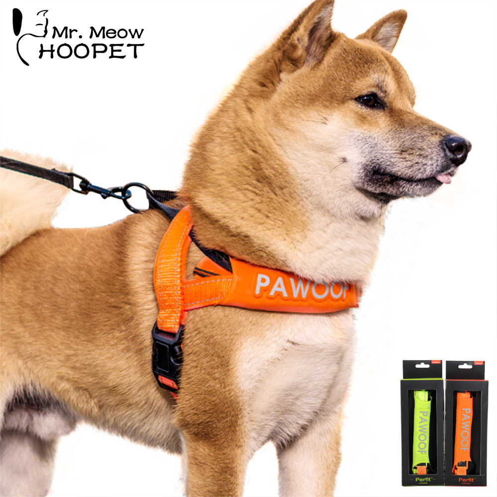 Hoopet Pet Dog Collar and Leash Set Collar Harness Vest Dogs Adjustable Soft Breathable Air Nylon Puppy