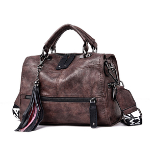 Image 1 - Genuine Leather Tassel Luxury Handbags Women Bags Designer Handbags High Quality Ladies Hand Bags For Women 2019 Bolsa Feminina