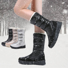 Dropshipping Winter Warm Boots Women Shoes Female Straight High Snow Boots Keep Warm With Thick Fur Heels Botas Mujer GXYZ214 2018 ladies fashion winter warm lined boots women botas mujer shoes cow suede black thick high heels long boots pritivimin fn104