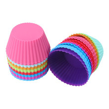 3/5/10/12pcs Silicone Muffin Cupcake Molds Cake Cup Liner Kitchen Baking Bakeware Case Party Tray DIY Decorating Tools