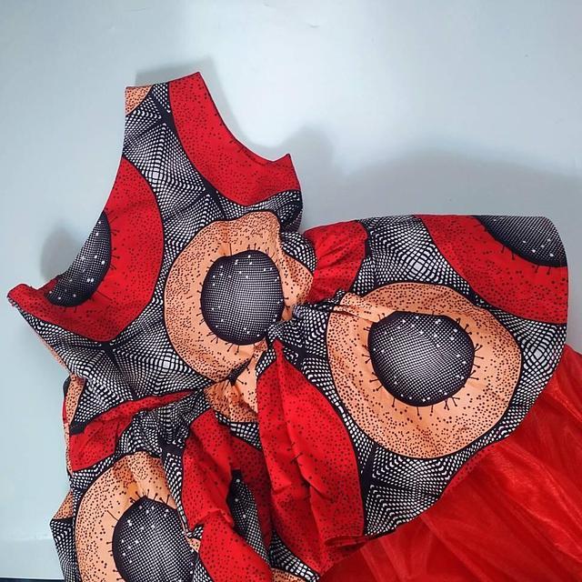 Высококачественная одежда в африканском стиле для детей; Платья
