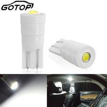 Керамичессветодиодный Светодиодная лампа T10 W5W, 2 шт., 194, 168, внутренсветодиодный ная автомобильная лампа W5W, автомобильные огни, супер яркая лампочка, лампа дневного света, 12 В, 6000K
