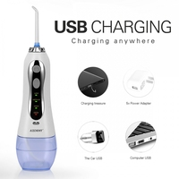 Dental Hygiene Oral Portable Irrigator Usb Rechargeable Water Flosser Dental Water Jet 300ML Water Tank Waterproof Teeth Cleaner