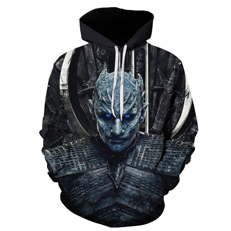 Game Of Thrones Season 8 Hoodie Men/women 3D Printed Hoodies Sweatshirts Long Sleeves Harajuku Style Streetwear Unisex Tops