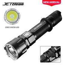 JETBeam 2000 Lumen Type-C Rechargeable Hard Light Tactical Hunting Flashlight Outdoor Night Version Survival