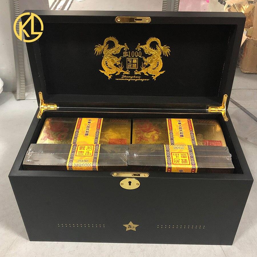 신제품 중국 일반 금 도금 지폐 1 백만 홍콩 달러 가짜 빌 드래곤 디자인 보안 자외선-에서금 지페부터 홈 & 가든 의  그룹 1