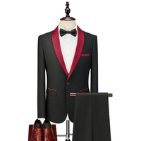 Slim fit Formal Men Suits for Groom 2020 2 piece Male Suit Jacket Pants with Shawl Lapel Business Wedding Tuxedos Ready in Stock