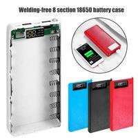 Portátil 18650 Carregador de Bateria Externa USB Tipo C LCD DIY Caso Carregador de Bateria Móvel Чехол для мобильного зарядного устройства|Banco de potência Acessórios| |  -