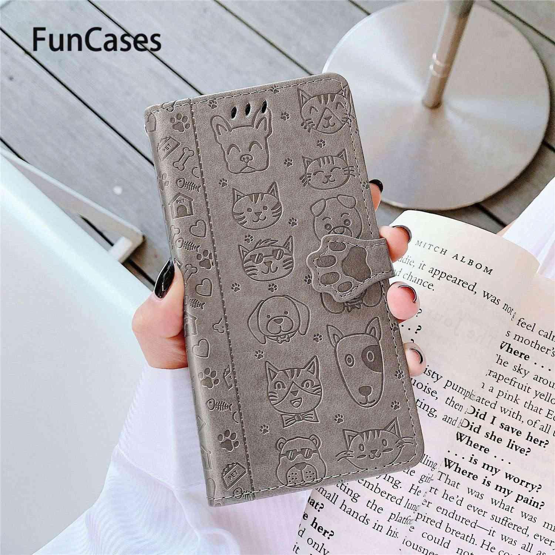 Ốp Điện Thoại Cho Estuche Samsung A30S Estojo Mèo Con Flip Wallet Case Book Cover Samsung Galaxy Capa A50S A50 Điện Thoại túi