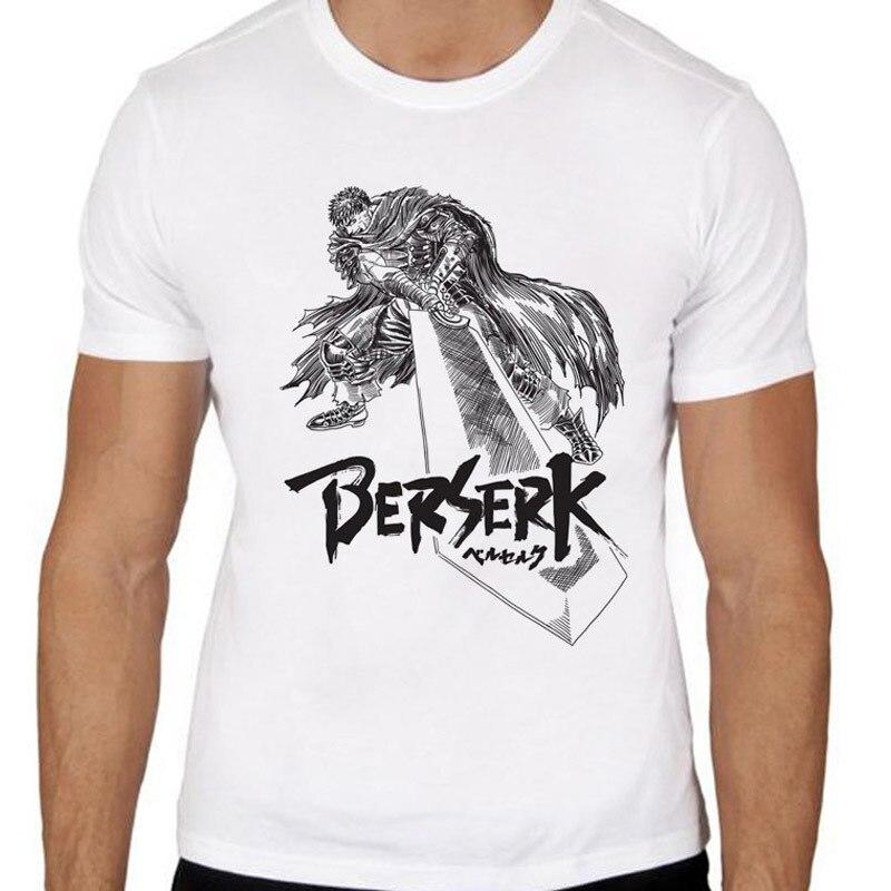Berserk T-Shirts Men Personalized Custom Tee 2020 Summer Male Fitness T Shirt High Street Vaporwave Fashion Men's Clothes