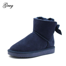 GRWG New Arrival Australia Classic Women Boots Womens Genuine Cowhide Leather Snow Shoes