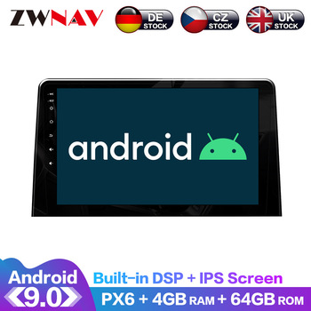 Android 10 4+128G IPS Screen PX6 DSP For PEUGEOT Partner 2020 Car No DVD GPS Multimedia Player Head Unit Radio Navi Audio Stereo image