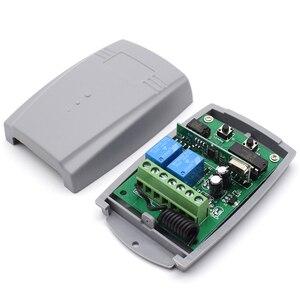 Image 3 - 12 24V 433.92MHz fixed code & rolling code receiver garage door controller 2 channel garage door remote receiver 2x 1527 remotes
