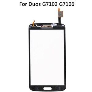 Image 4 - 삼성 갤럭시 그랜드 2 II 듀오 G7102 G7106 하우징 미들 프레임 배터리 백 커버 + 터치 스크린 디지타이저 패널