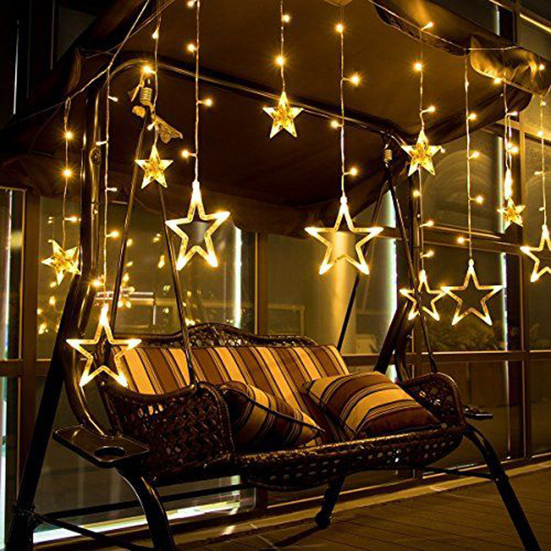LED Fairy Lights Christmas Outdoor String Lights Garland 2.5M LED Star Waterproof Wedding Party Xmas Tree New Year Holiday Light