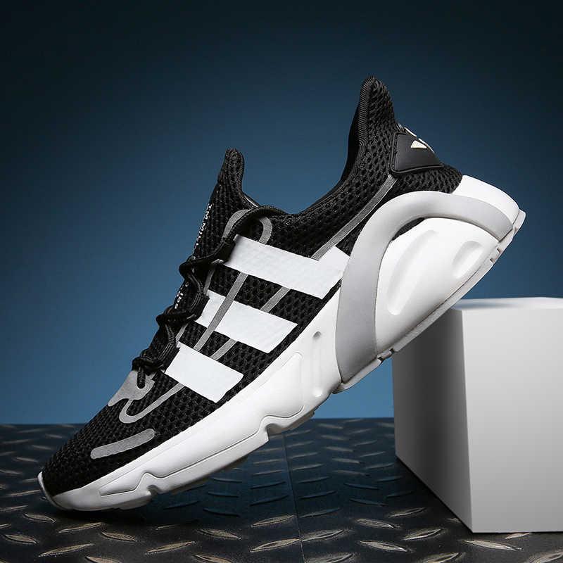 Ventilador PAO fácil combinación de malla blanco ligero oficial Original Yeezys Air Boost hombres correr zapatillas deportivas Slip on Casual zapatillas de deporte