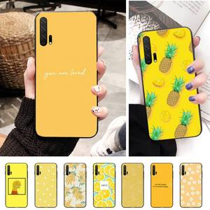 Lemon yellow Luxury Unique Phone Cover For Huawei Y5 Y6 Y7 Y9 Honor 8X 10 20 View10 View20 Case
