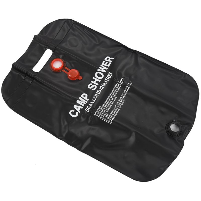 Outdoor Camping Solar Energy Heated Camp Shower Pipe Bag Portable 20L|Water Bags| |  - title=