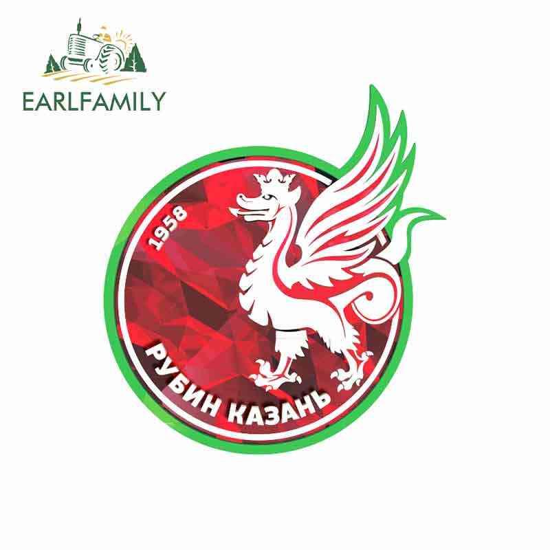 Earlfamily 13 Cm X 12.1 Cm untuk FC Rubin Kazan Humor Lucu Stiker Vintage Balap Stiker GTR Mobil Dekorasi styling