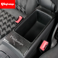 Car Styling Carbon Fiber Buttons Armrest Box Panel Auto 3D Stickers For Audi A3 8V 2014 2018 Interior Accessories