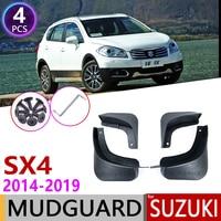4PCS Car Mudguards for  Suzuki S Cross SX4 2014~2019 Mudflap Fender Mud Flaps Guard Splash Flap Accessories 2015 2016 2017 2018|Car Stickers| |  -