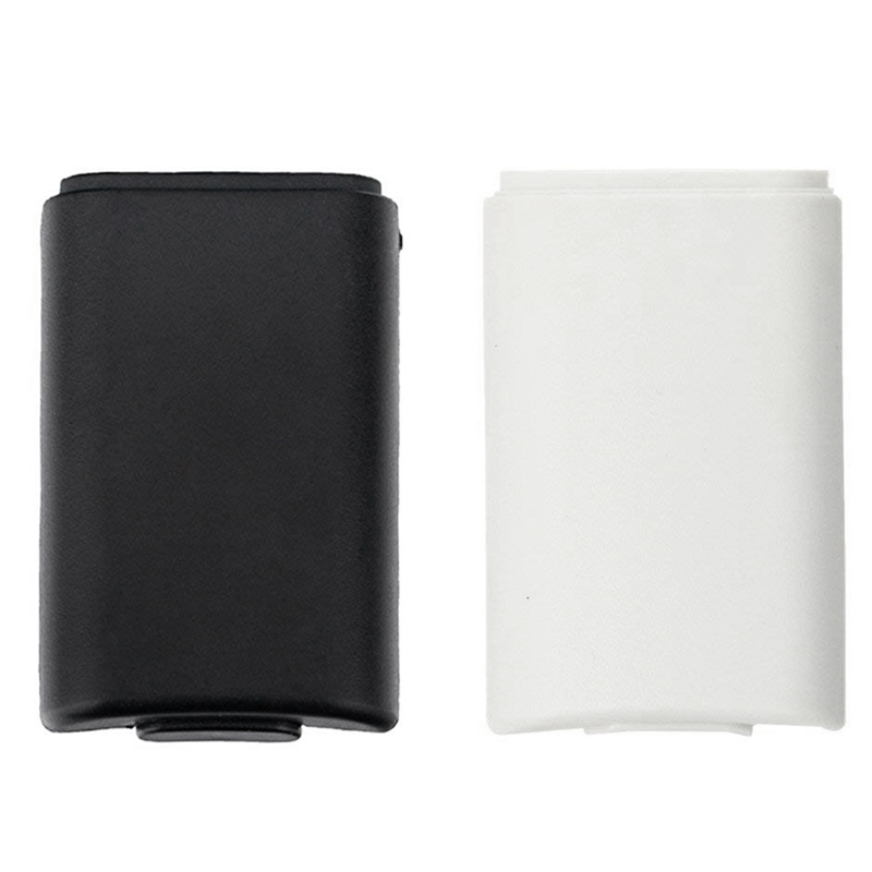 FULL-2 Pack Of Black And White Replacement AA Battery Case Back Cover Shell For Xbox 360 Controller