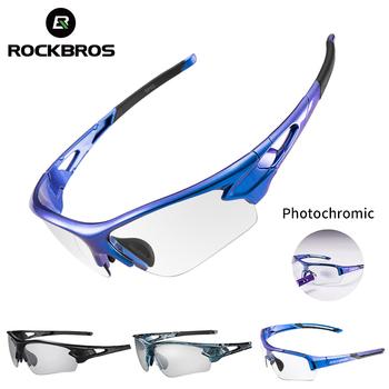 ROCKBROS Sport fotochromowe okulary z polaryzacją okulary rowerowe rowerowe szkło MTB rower jazda wędkarstwo okulary rowerowe tanie i dobre opinie Photochromic UV400 4 8 cm 10060 MULTI Poliwęglan Unisex Octan Jazda na rowerze Photochromatic UV400 Anti-fog Men Women Adults