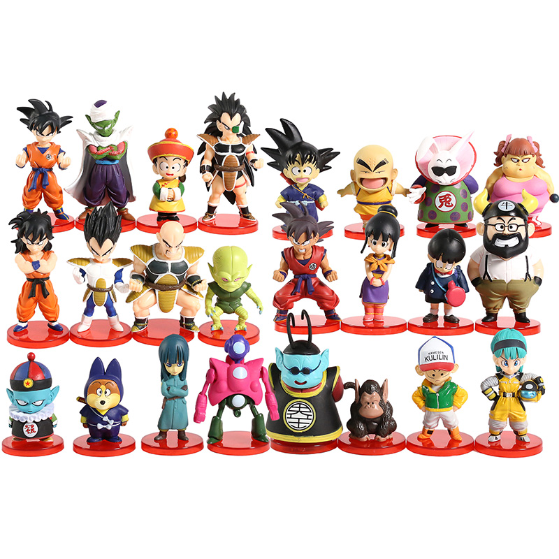 Dragon Ball Super WCF DWC Goku Gohan Bulma Krillin Kaio Bubbles Ox-King Chichi Pilaf Shu Mai PVC Figures Toys 8pcs/set