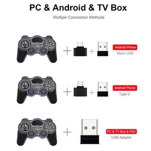 Image 4 - Контроллер Android 2,4G беспроводной геймпад Универсальный джойстик для смартфона Android для ПК планшета для PS3 консоль управление