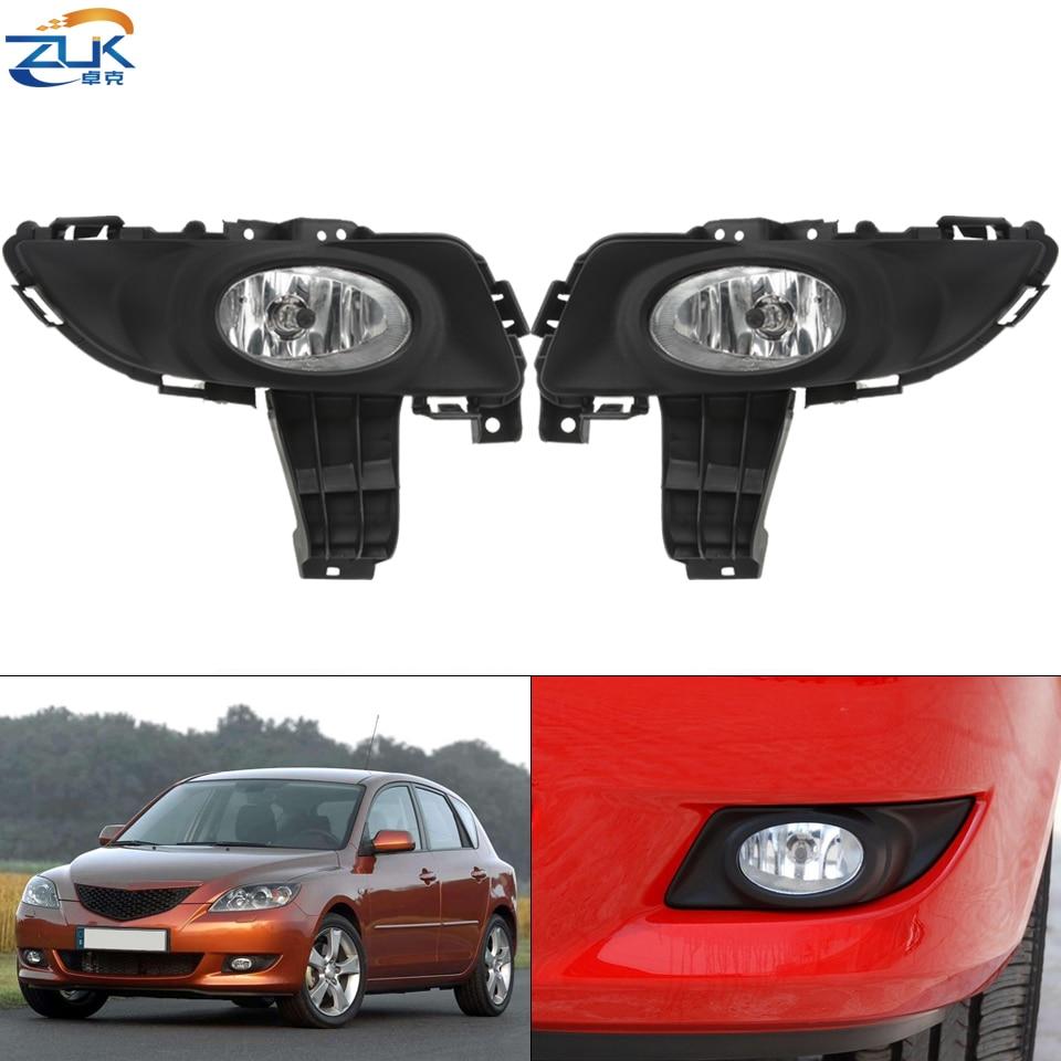 ZUK передний бампер туман светильник противотуманная фара для Mazda 3 M3 2003 2004 2005 2006 2007 2008 2009 2010 1.6L Анти-туман светильник тумана светильник против...