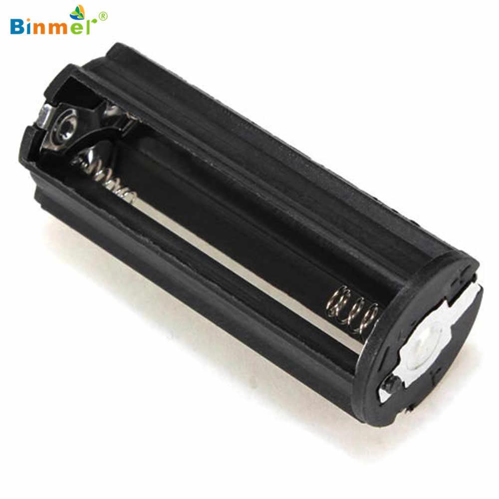 18650 boîte bricolage chargeur portatif batterie boîte de support circuit noir cylindrique 3 AAA en plastique support de batterie adaptateur boîtier lampe de poche
