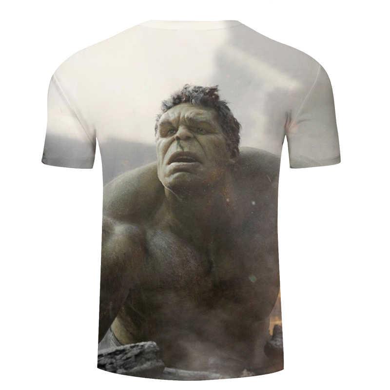 Nueva moda de Hulk superhéroe camiseta de las mujeres de los hombres los Vengadores diseño Camiseta Hombre de manga corta de verano Tops Tee