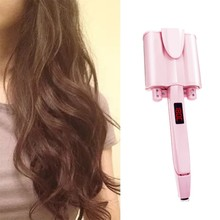 Eu Plug Professional Hair Curler 32Mm Iron Tourmaline Ceramic Temperature Control Unique Barrel Deep Ripple Hair Styling Tool(China)