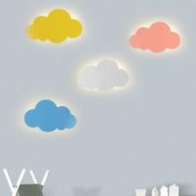 Artpad 15W Moderna Nube Lampada Da Parete Luci Bianco Rosa Della Parete del LED Montato Soggiorno Della Ragazza Dei Bambini Camera Da Letto Della Decorazione Della Luce 110v 220
