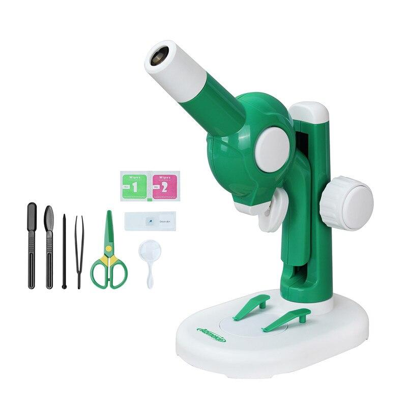 Démonter Microscope jouet éducatif bricolage tige Microscope pour les enfants d'âge préscolaire avec pièces assemables 15X Science Microscope