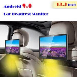 13.3 Inch Android 9.0 2GB+16GB 1920*1080 Car Headrest Monitor 4K 1080P MP5 WIFI/Bluetooth/USB/SD/HDMI/FM/Mirror Link/Miracast(China)