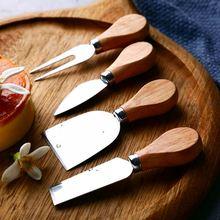Набор деревянных ножей для сыра нержавеющая сталь резак мини