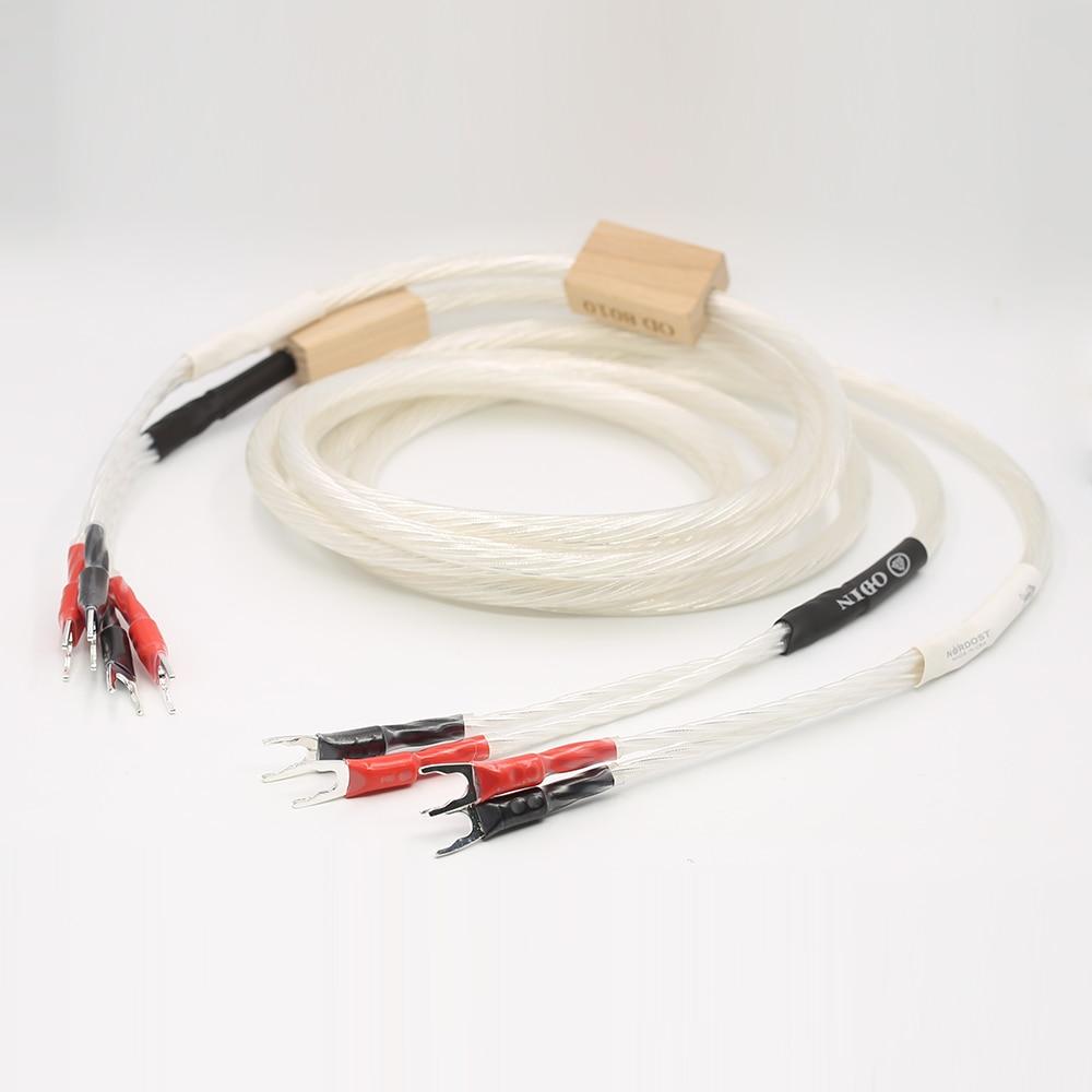 YTER NORDOST ODIN argent plaqué HIFI haut-parleur Audiophile câble haut-parleur bêche prise câble Audio HIFI, Biwire haut-parleur cabl