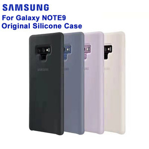 Image 1 - SAMSUNG Original Silicone Case Phone Cover for Samsung Note9 Note 9 N960F Fashion Soft Phone Cover Shockproof Mobile Phone case