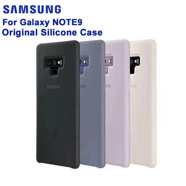 SAMSUNG Original Silicone Case Phone Cover for Samsung Note9 Note 9 N960F Fashion Soft Phone Cover Shockproof Mobile Phone case