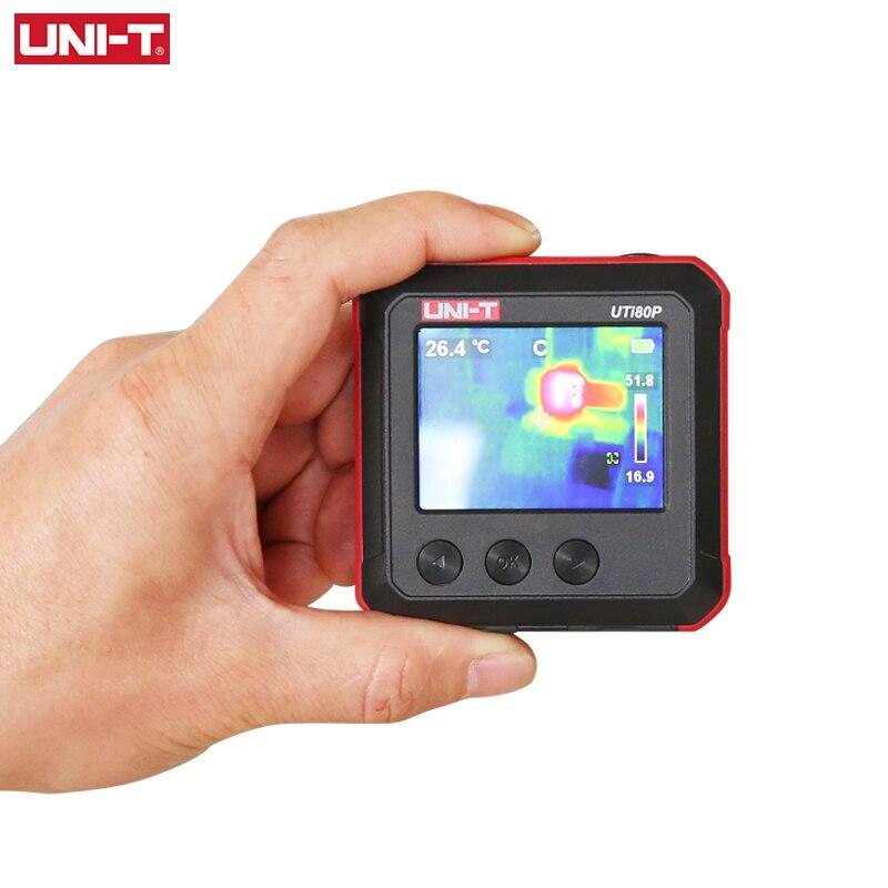 UNI-T UTi80P Mini imageur thermique poche infrarouge thermique Compact caméra d'imagerie industrielle température chauffage par le sol détection