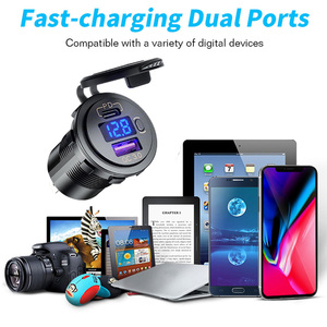 Image 4 - 12 24V USB araç şarj USB otomatik soket QC3.0 hızlı şarj PD portu Fit telefon için DVR kamera ipad su geçirmez 12V şarj aksesuarı