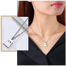 Крошечные Симпатичные кулон призрак ожерелья для женщин никогда