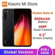 "Global Version Xiaomi Redmi Note 8 4GB RAM 64GB ROM 48MP Rear Quad Camera Mobile Phone Snapdragon 665 Octa Core 6.3"" 4000mAh(China)"
