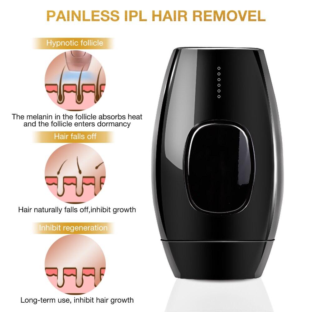 Image 2 - 1200000 Flash Permanent IPL Epilator Laser Hair Removal depiladora facial Electric photoepilator dropship Painless Hair Remover-in Epilators from Home Appliances