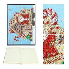 DIY Santa Claus Special Shaped Diamond Painting 60 Pages A5 School Notebook painting school supplies for students