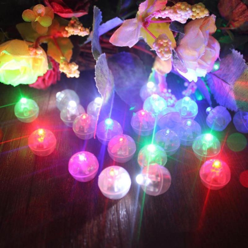 10pcs Glowing Balloon Lights Spherical LED Balloon Lights Balloon Ball Lights Mini Party Balloon Lights