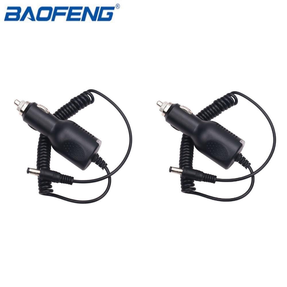 """2 шт. Батарея Кабельная линия Baofeng UV-5R автомобильное зарядное устройство для UV-82 UV-5RE UV-9R UV-XR UV-S9 GT-3 плюс Зарядное устройство иди и болтай Walkie Talkie """"иди и аксессуары"""