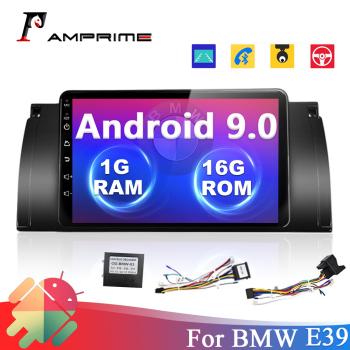 AMPrime 8 Android 9.0 Car Multimedia For BMW E39 2din Car Radio WiFi GPS Bluetooth Audio Stereo Quad Core Mirrorlink player image