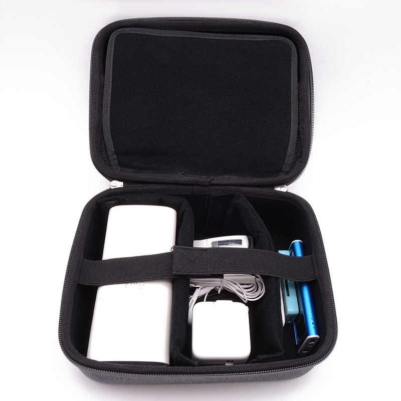 جديد 3.5 بوصة متعددة الوظائف حقيبة صندوق الطاقة ل المنظم قوة البنك HDD فلاشة مزودة بفتحة يو إس بي قرص صلب كابل خارجي VR حقيبة التخزين
